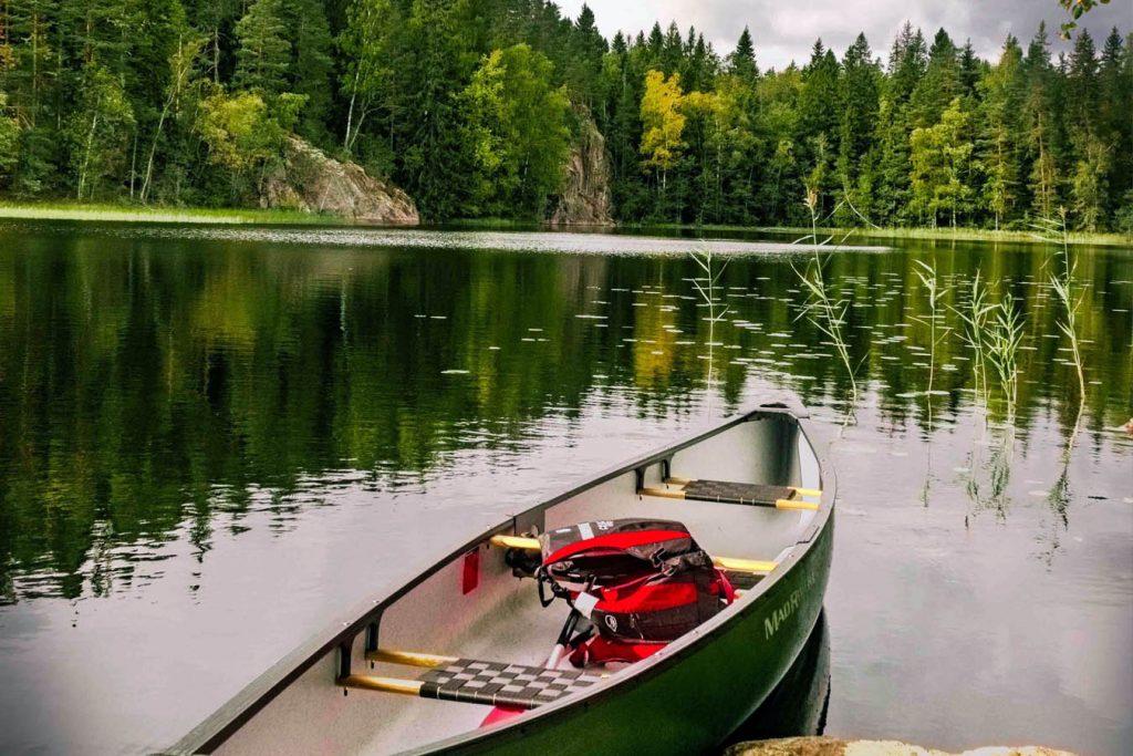Portable hammock stand canoe camping