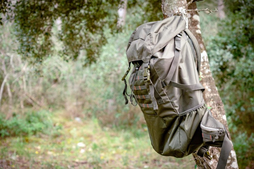 Where do you put your backpack when hammock camping